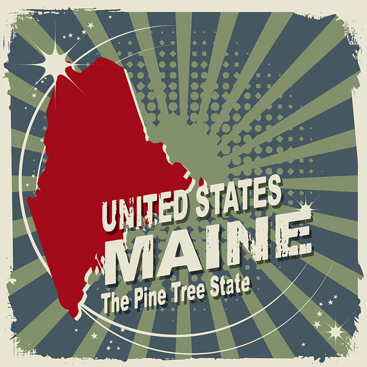 abstract maine map