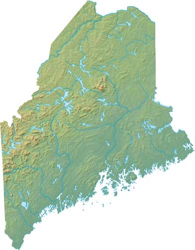 maine relief map